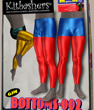 Kitbashers_Bottoms-002 -- By MightyMite for G3M 3D Figure Assets MightyMite