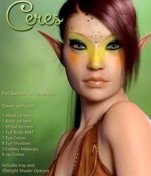 Ceres For Genesis 3  3D Figure Assets OonaTheWild