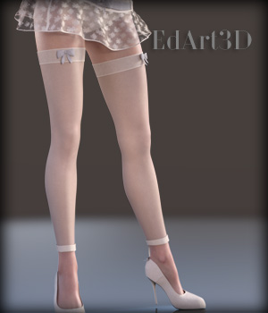 Charming Dress Set for G3F AddOn Pack 3D Figure Essentials EdArt3D