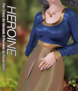 HEROINE - Pan Dress for Genesis 3 Female 3D Figure Essentials Anagord
