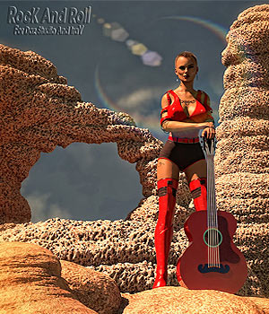 Rock And Roll Stone and Rock Shades and Models for Daz Studio and Iray. by martinjfrost