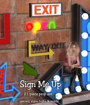 Sign Me Up 3D Models JudibugDesigns