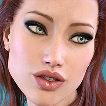 Z Subtly Gorgeous - Morph Dial and One-Click Expressions for G3F-V7 image 3