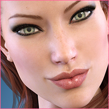 Z Subtly Gorgeous - Morph Dial and One-Click Expressions for G3F-V7 image 4