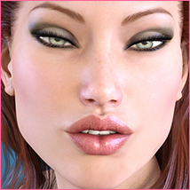 Z Subtly Gorgeous - Morph Dial and One-Click Expressions for G3F-V7 image 5