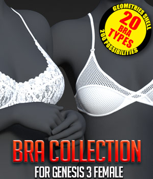 Bra Collection for G3 females 3D Figure Assets powerage