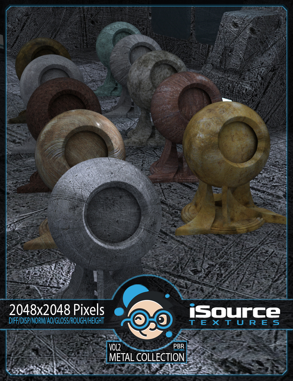 Metal Collection - Vol2 (PBR Textures) Merchant Resource by KobaAlexander