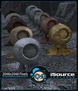 Metal Collection - Vol2 (PBR Textures) Merchant Resource 2D Merchant Resources KobaAlexander