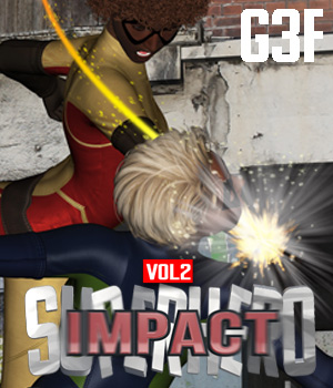 SuperHero Impact for G3F Volume 2 3D Figure Assets GriffinFX
