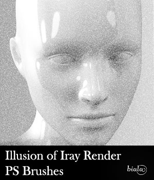 Illusion of Iray PS Brushes 2D Graphics biala