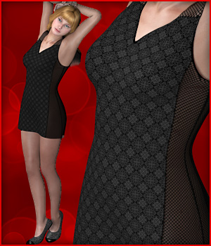 Pauline Little Black Dress 3D Figure Assets karanta