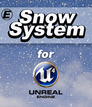 Snow System for UE4 - Extended License  3D Models Extended Licenses 3D Game Models : OBJ : FBX poweredge