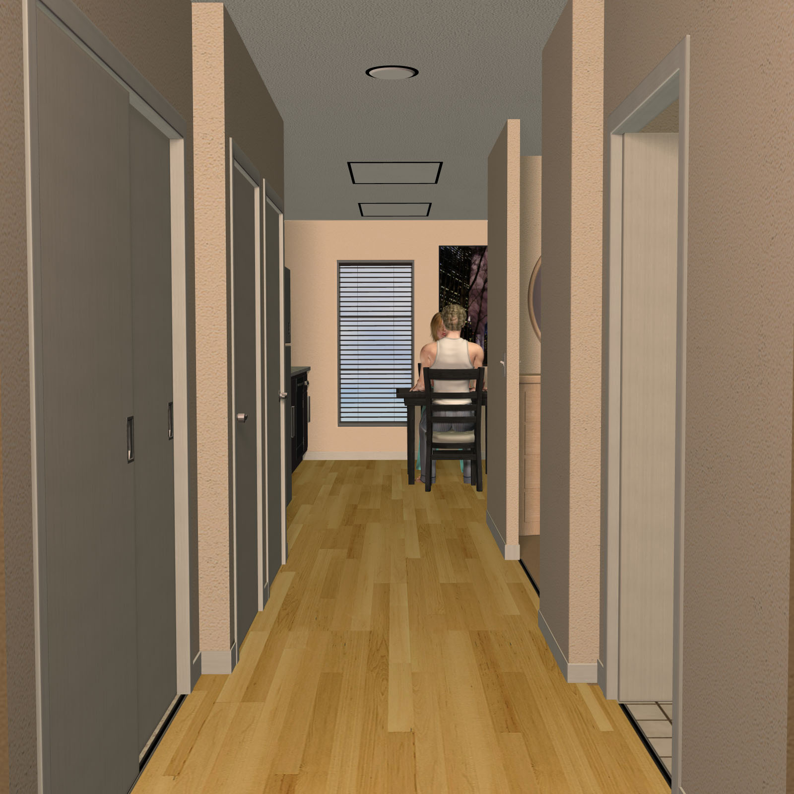 Studio apartment 3d models richabri for Apartment 3d model