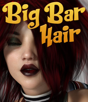 Big Bar Hair for Genesis 3 Female 3D Figure Assets PoisenedLily