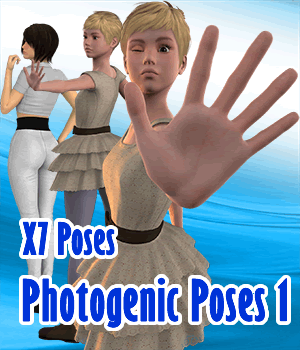 X7 Poses Photogenic Poses 1 For G3F 3D Figure Assets x7