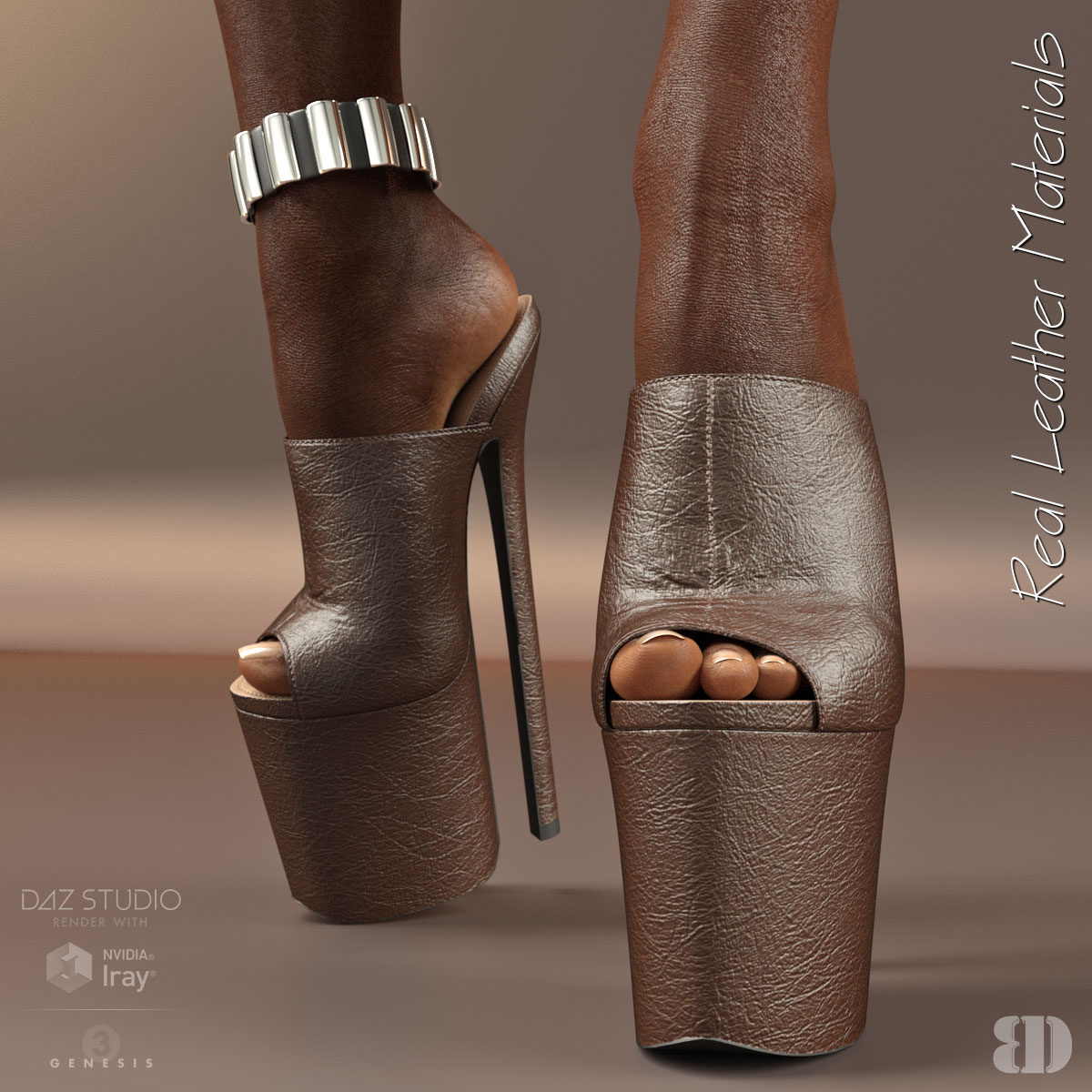 8d6ba8c79a34 3D Figure Assets • Footwear · 10 inches Platform Mules for G3F · Previous  Next