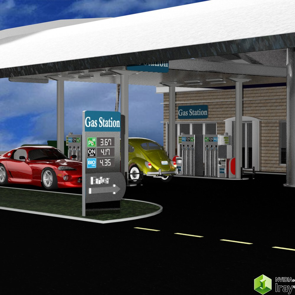 VP Gas Station for DAZ Studio 3D Models VanishingPoint