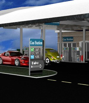 VP Gas Station for DAZ Studio