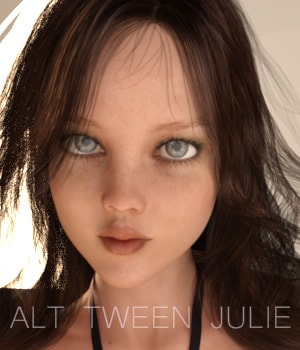 Alt Tween Julie 3D Figure Assets AliveSheCried