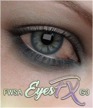 FWSA EyesFX for Genesis 3 3D Figure Essentials Sabby