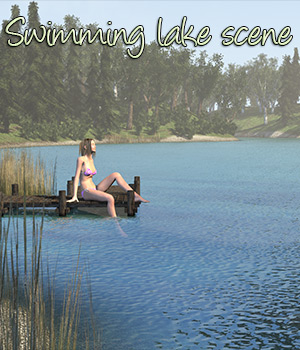 Swimming lake scene 3D Models 2nd_World
