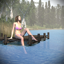 Swimming lake scene image 4