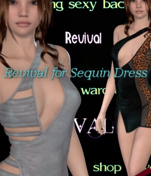 Revival for Sequin Dress 3D Figure Assets JudibugDesigns