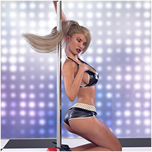 Z Pole Dance - Poses for Genesis 3 Female image 4