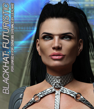 BLACKHAT:FUTURISTIC - Linked II for Genesis 3 Females 3D Figure Assets Anagord