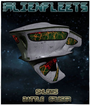 Alienfleets: Shloms BattleCruiser Fregatte 3D Models 3-d-c