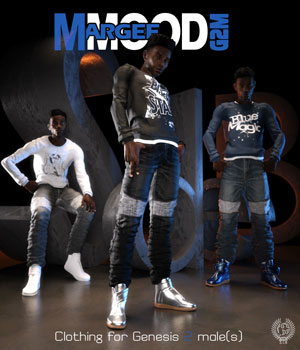 MARGEE MOOD G2M for Genesis 2 Male(s) 3D Figure Assets samsil