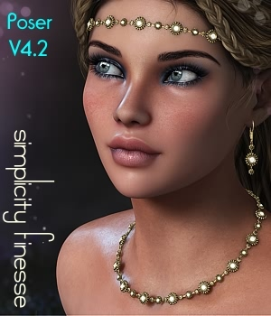 Simplicity Finesse for V4.2-POSER 3D Figure Essentials fabiana