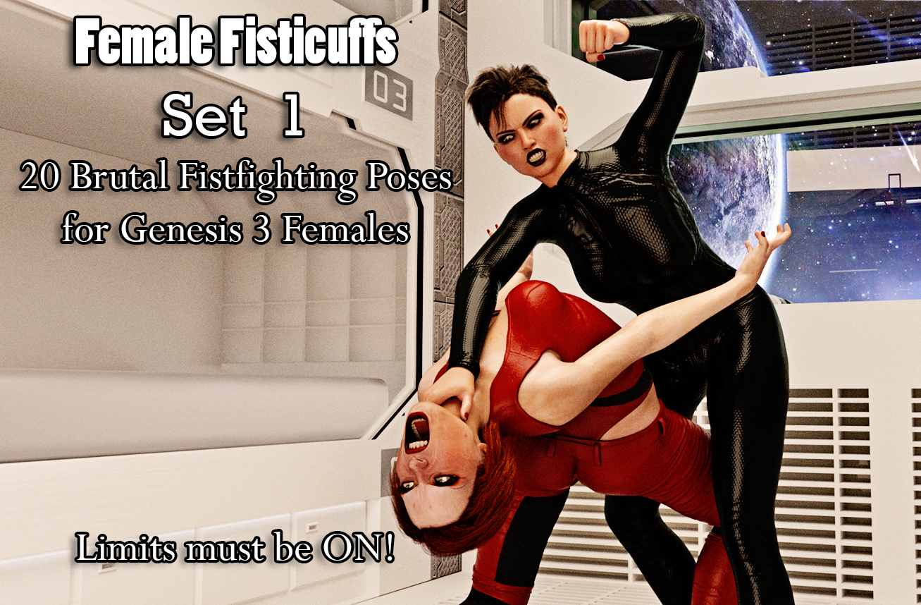 Female Fisticuff Poses for Genesis 3 Female - Set 1 by Jenkins3D
