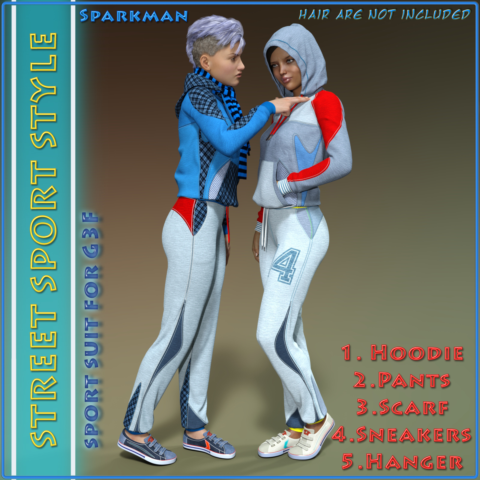 Street Sport Style: Sports Suit for Genesis 3 Female(s) by sparkman