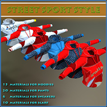 Street Sport Style: Sports Suit for Genesis 3 Female(s) image 3
