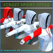 Street Sport Style: Sports Suit for Genesis 3 Female(s) image 4