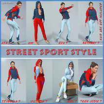 Street Sport Style: Sports Suit for Genesis 3 Female(s) image 6