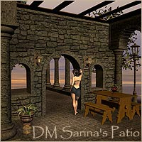 DMs Sarinas Patio - Extended License 3D Models Extended Licenses DM