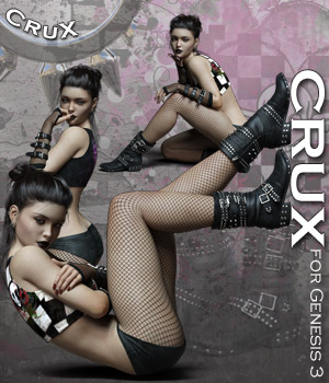 CruX Outfit for the Genesis 3 Female 3D Figure Essentials Rhiannon