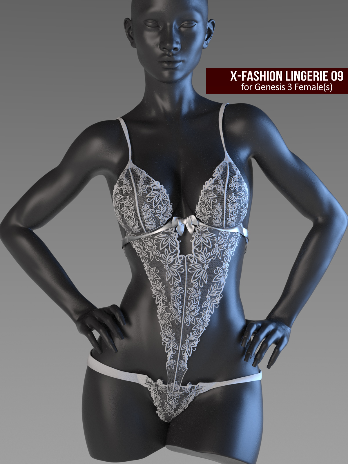 X-Fashion Lingerie 9 for Genesis 3 Females by xtrart-3d
