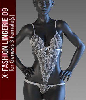 X-Fashion Lingerie 9 for Genesis 3 Females 3D Figure Assets xtrart-3d