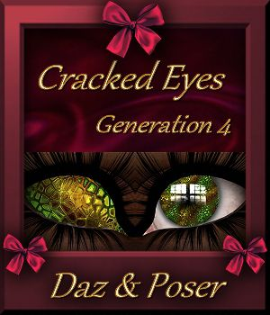 Mini Pack : Cracked Eyes  for Generation 4 3D Figure Assets farfadelf