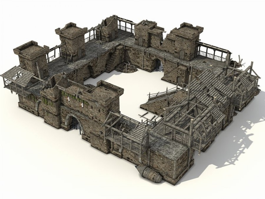 Castle Ruins - Extended License