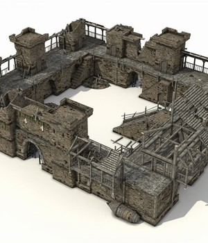 Castle Ruins - Extended License 3D Models Extended Licenses 3D Game Models : OBJ : FBX KRBY