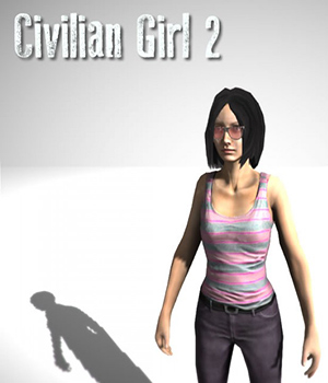 Civilian Female 2 - Extended License 3D Figure Essentials 3D Models Extended Licenses Game Content - Games and Apps KRBY