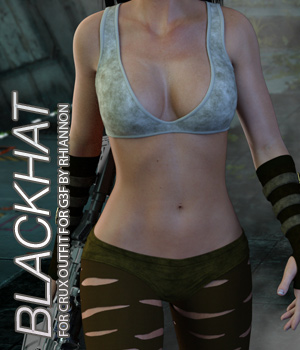 BLACKHAT - CruX Outfit for the Genesis 3 Female 3D Figure Assets Anagord