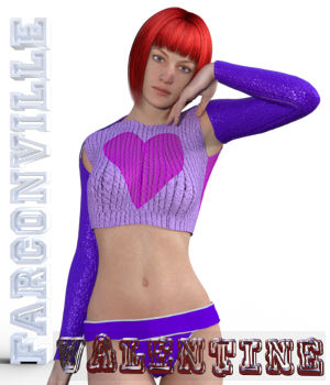 VALENTINE OUTFIT FOR GENESIS 2, VICTORIA 6 AND MICHAEL 6 3D Figure Assets farconville