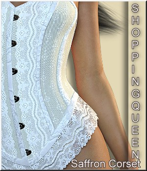 Shopping Queen: for Saffron Corset 3D Figure Assets LUNA3D