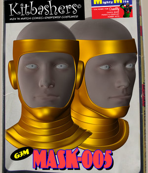 Kitbashers_Mask-005 -- By MightyMite for G3M 3D Figure Assets MightyMite