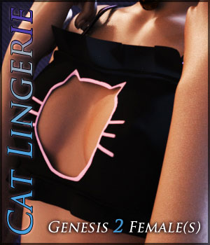 CatLingerie for Genesis 2 Females 3D Figure Assets Quanto